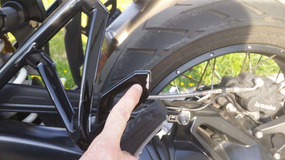 BMW 1200 GS Motorbike inspection footpeg