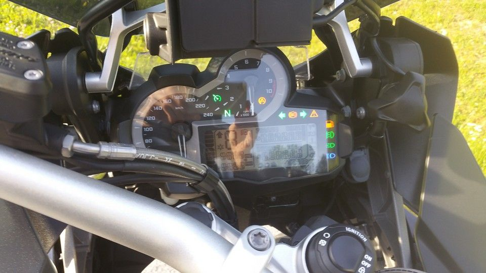 BMW 1200 GS Motorbike inspection dashboard